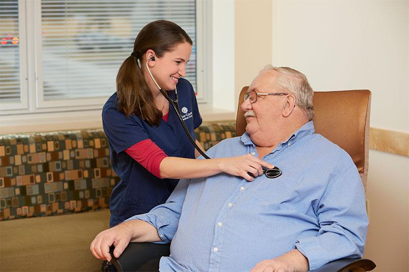 Door County Orthopedic patient meeting with DCMC nurse